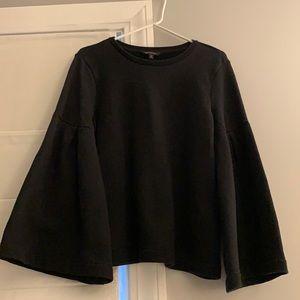 Banana republic black bell sleeve sweatshirt M